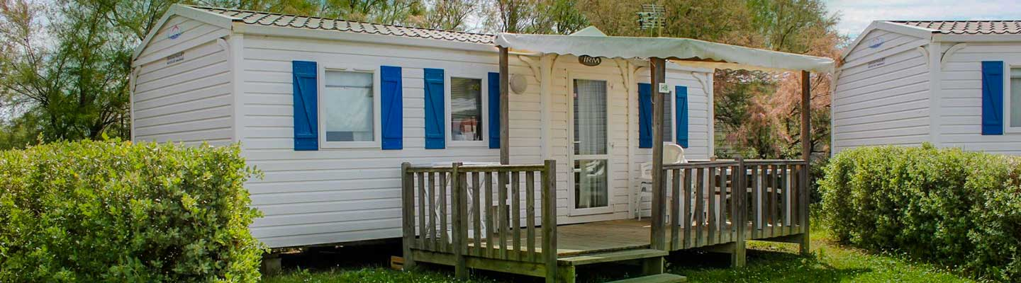 Location d'un grand mobil home en Camargue