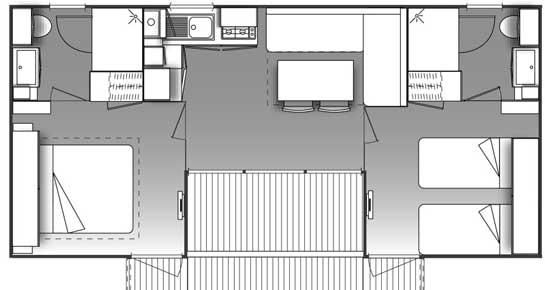Plan d'un location d'un mobil home supérieur en région PACA