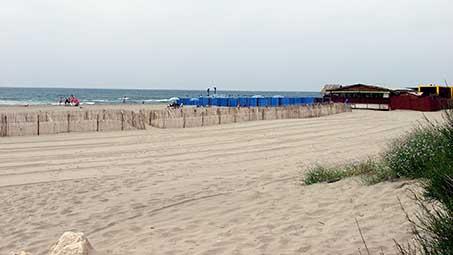 Les plages des Saintes Maries de la Mer